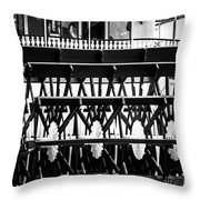 Picture Of Natchez Steamboat Paddle Wheel In New Orleans Throw Pillow by Paul Velgos