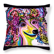 Picture Perfect Poodle Throw Pillow by Eloise Schneider