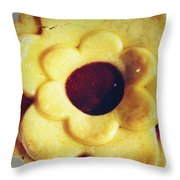 Pie Throw Pillow by Les Cunliffe