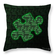 Piece Of Information Throw Pillow by Gaspar Avila