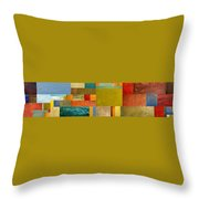 Pieces Project Lv Throw Pillow by Michelle Calkins