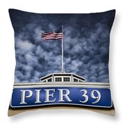 Pier 39 Throw Pillow by Dave Bowman