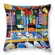 Pier One Throw Pillow by Anthony Falbo