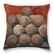 Pile Of Cannon At San Francisco Fort Point 5d21493 Throw Pillow by Wingsdomain Art and Photography