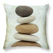 Pile Of Pebbles Throw Pillow by Bernard Jaubert