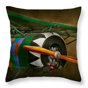Pilot - Plane - German WW1 Fighter - Fokker D VIII Throw Pillow by Mike Savad