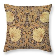 Pimpernel Wallpaper Design Throw Pillow by William Morris