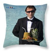 Pina Colada Anyone Throw Pillow by David Smith