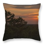 Pine Barrens Sunset Nj Throw Pillow by Terry DeLuco