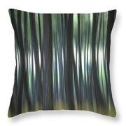 Pine Forest. Blurred Throw Pillow by Bernard Jaubert