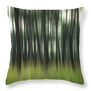Pine Forest.blurred Throw Pillow by Bernard Jaubert