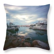 Pinhole Oceanside Harbor Throw Pillow by Hugh Smith