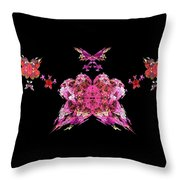 Pink Butterflies Throw Pillow by Bruce Nutting