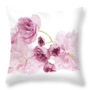 Pink Cherry Blossoms Throw Pillow by Elena Elisseeva