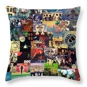 Pink Floyd Collage II Throw Pillow by Taylan Soyturk