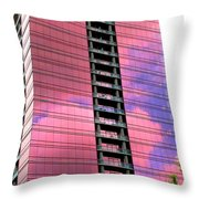 Pink Glass Buildings Can Be Pretty Throw Pillow by Randall Weidner