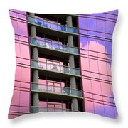 Pink Glass Clouds Throw Pillow by Randall Weidner