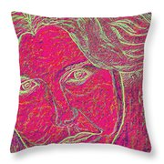 Pink Lady Throw Pillow by Mark Moore