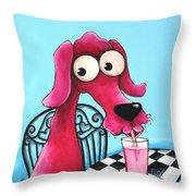 Pink Milk Throw Pillow by Lucia Stewart