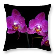 Pink Orchid  Throw Pillow by Toppart Sweden