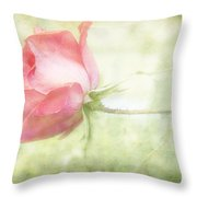 Pink Rose Throw Pillow by Joan McCool
