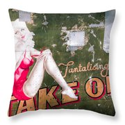 Pinup Girl - Aircraft Nose Art - Take Off Anne Throw Pillow by Gary Heller