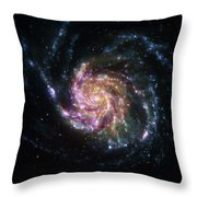 Pinwheel Galaxy Rainbow Throw Pillow by Adam Romanowicz