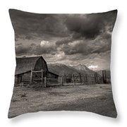 Pioneer Barn D9369 Throw Pillow by Wes and Dotty Weber
