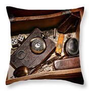 Pioneer Keepsake Box Throw Pillow by Olivier Le Queinec