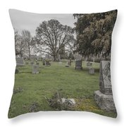 Pioneer Resting Place Throw Pillow by Jean Noren