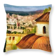 Pious Witness to the Passage of Time Throw Pillow by Jeff Kolker