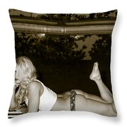 PIPER STARLET No78-9267 Throw Pillow by Nasser Studios
