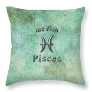 Pisces Feb 19 To March 20 Throw Pillow by Fran Riley