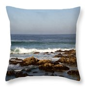Pismo Beach Seascape Throw Pillow by Barbara Snyder
