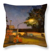 Pit Stop Throw Pillow by Athena  Mantle