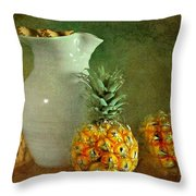 Pitcher With Pineapples Throw Pillow by Diana Angstadt