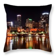 Pittsburgh Panorama Throw Pillow by Frozen in Time Fine Art Photography