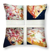 Pizza Throw Pillow by Les Cunliffe