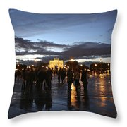 Place Du Carrousel Throw Pillow by Randi Shenkman