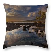 Place Of Refuge Sunset Reflection Throw Pillow by Mike Reid