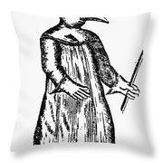 Plague Costume, 1720 Throw Pillow by Granger