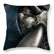 Plane - Pilot - Prop - You Are Clear To Go Throw Pillow by Mike Savad