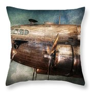 Plane - Pilot - The Flying Cloud  Throw Pillow by Mike Savad