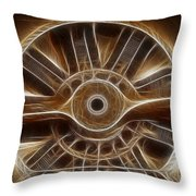 plane wooden prop Throw Pillow by Paul Ward
