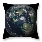 Planet Earth 90 Million Years Ago Throw Pillow by Walter Myers