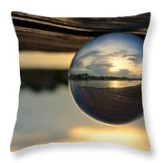 Planetary Throw Pillow by Laura  Fasulo