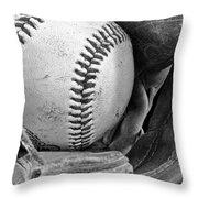 Play Ball Throw Pillow by Don Schwartz