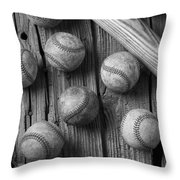 Play Ball Throw Pillow by Garry Gay