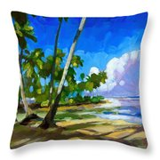 Playa Bonita Throw Pillow by Douglas Simonson