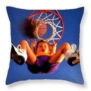 Playing Basketball Throw Pillow by Lanjee Chee
